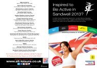 the full sports timetable. - Sandwell Leisure Trust