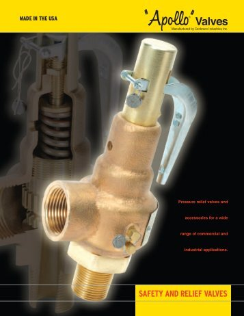 SAFETY AND RELIEF VALVES - sltco.co.kr
