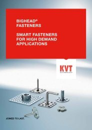 BiGHead® FasteneRs sMaRt FasteneRs FoR HiGH ... - KVT Shop