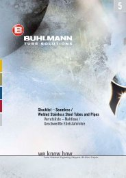 Seamless Stainless Steel Tubes and Pipes - Buhlmann