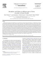 Bryophytes and lichens in different types of forest set-asides in ... - SLU