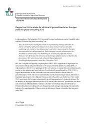 Rapport om SLU:s arbete för att bidra till genomförandet av Sveriges ...