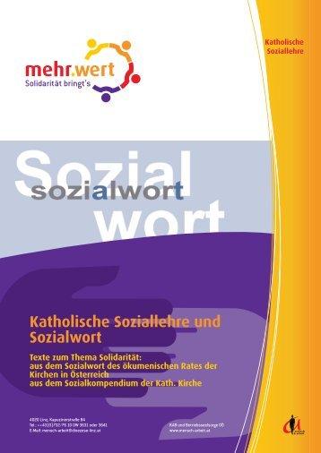 Katholische Soziallehre und Sozialwort