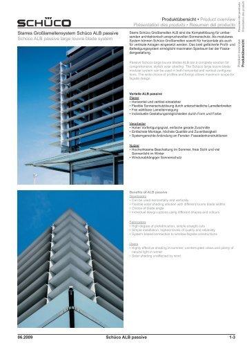 Produktübersicht • Product overview Présentation des produits ...