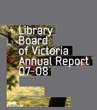 Cover, Contents, Key reports, Vision and values - State Library of ...