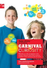 Carnival of Curiosity program – PDF - State Library of Victoria