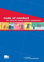 Code of conduct for Victorian Public Sector Employees