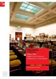 Venue hire: PDF - State Library of Victoria