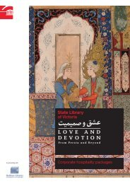 Love and Devotion corporate hospitality packages - State Library of ...