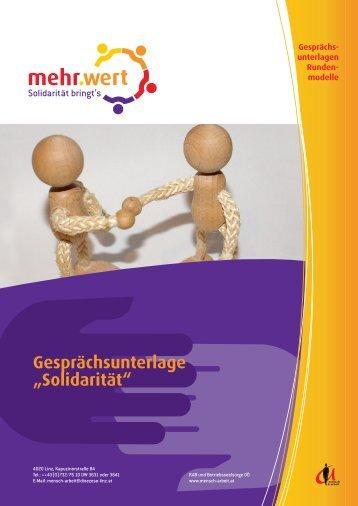 "Gesprächsunterlage ""Solidarität"""