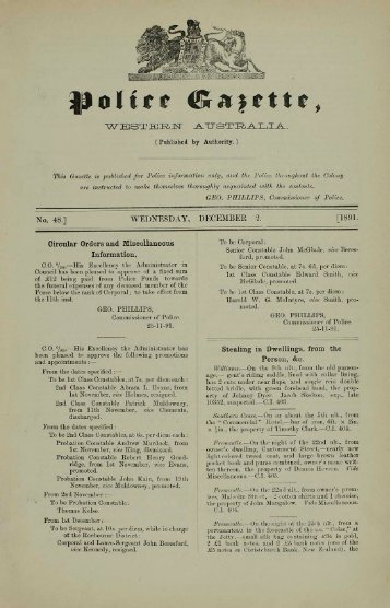 December 1891 - State Library of Western Australia