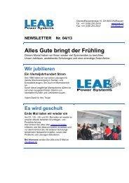 Newsletter 04/13 - LEAB