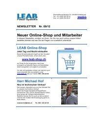 Newsletter 09/12 - LEAB
