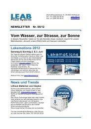 Newsletter 05/12 - LEAB