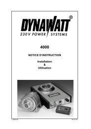 NOTICE D'INSTRUCTION Installation & Utilisation - LEAB