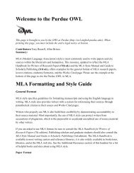 MLA Style Guide 2009 - San Marcos Academy