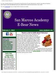 San Marcos Academy E-Bear News