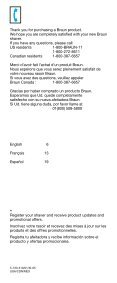 cruZer3 - Braun Consumer Service spare parts use instructions ... - Page 2