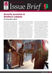 Security provision in Southern Lebanon - Small Arms Survey