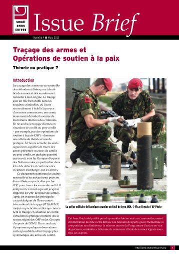 Traçage des armes et Opérations de soutien à la paix - Small Arms ...