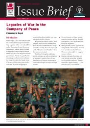Legacies of War in the Company of Peace - Small Arms Survey