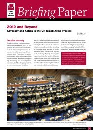 2012 and Beyond - Small Arms Survey