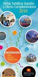 Calendario Visitas Guiadas Almería Verano 2014