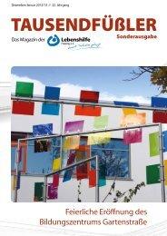2013 Januar / Lebenshilfe Freising / Tausendfüßler-Magazin