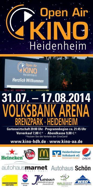 Open Air Kino Heidenheim - Volksbank Arena im Brenzpark