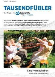 2012 April / Lebenshilfe Freising / Tausendfüßler-Magazin