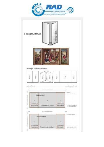 6-seitiger Altarfalz