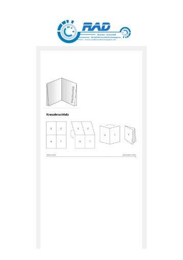 Der Kreuzbuchfalz und Kombifalz kompakt erklärt