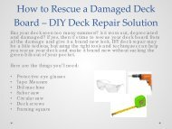 How to Rescue a Damaged Deck Board – DIY Deck Repair Solution