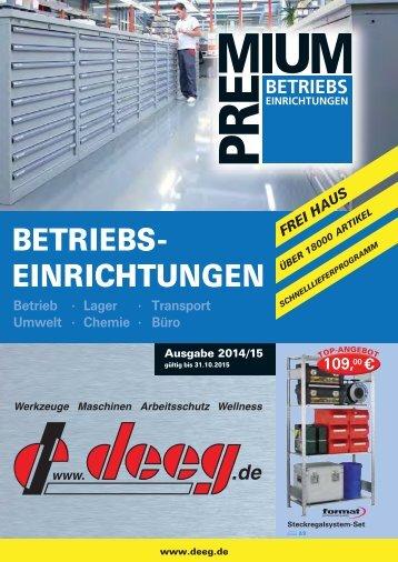 BETRIEBS- EINRICHTUNGEN