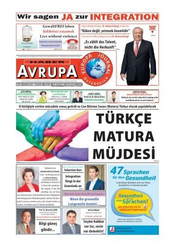 EUROPA JOURNAL - HABER AVRUPA JULI 2014
