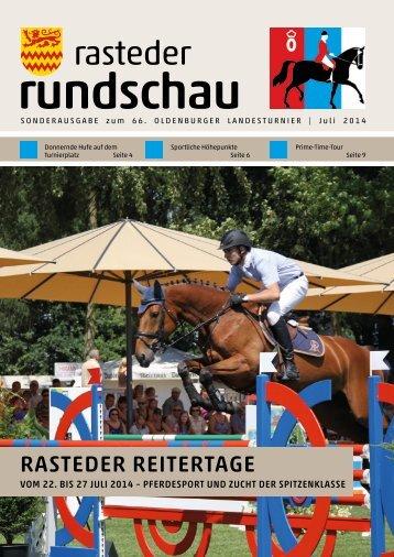 rasteder rundschau Sonderausgabe zum Oldenburger Landesturnier 2014