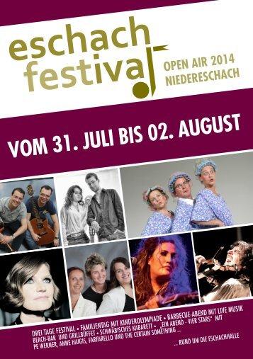 ESCHACH-FESTIVAL VOM 31. JULI BIS 02. AUGUST