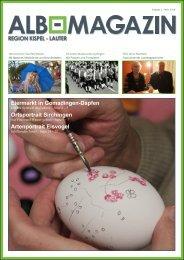 Alb Magazin - Ausgabe Kispel Lauter 1/2014