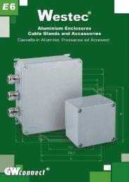 Westec Aluminium Enclosures,  Cable Glands and Accessories