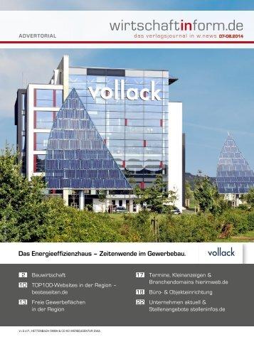 Bauwirtschaft | wirtschaftinform.de 07-08.2014