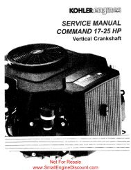 Service Manual Command 17-25 HP Vert - Small Engine Discount