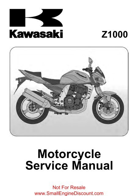 Kawasaki Z1000 Zr1000 2003 04 Service Manual Small Engine