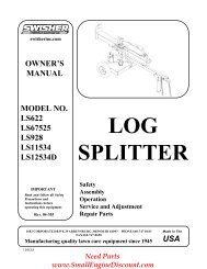 LOG SPLITTER - Small Engine Discount