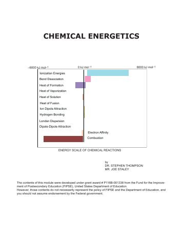 chemistry chemical energetics Understanding chemistry chemical energetics menu some simple energetics ideas deals with the basic ideas about energy changes during chemical reactions.