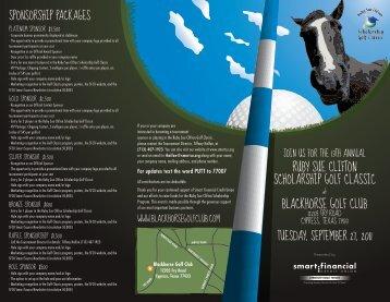 ruby sue clifton scholarship golf classic blackhorse golf club