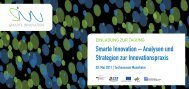 """Flyer der Tagung """"Smarte Innovation"""" im Technoseum Mannheim"""