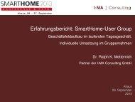 Usergroups - Smarthome Initiative Deutschland
