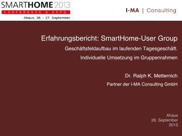 Usergroups - Smarthome Initiative Deutschland