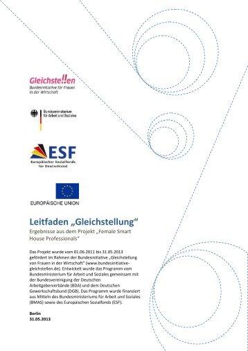 """Leitfaden """"Gleichstellung"""" - SmartHome Initiative Deutschland"""
