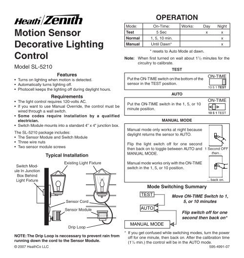 motion sensor decorative lighting control smarthomeWire In Motion Sensor Light Control By Heathco #15